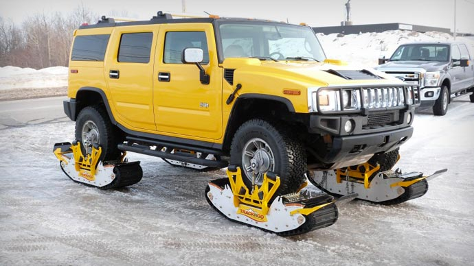Track N Go Wheel Driven Track System on a Hummer