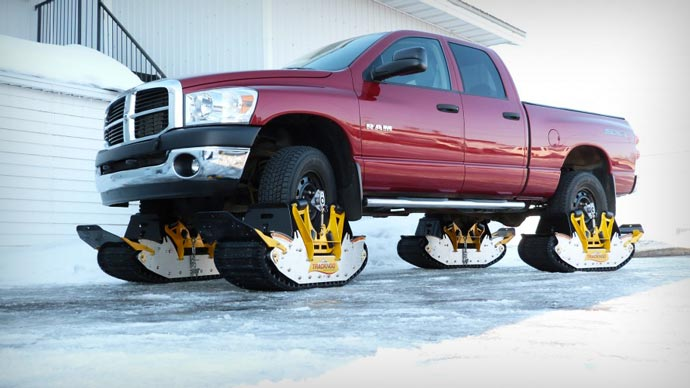 Track N Go Wheel Driven Track System on a pick up truck