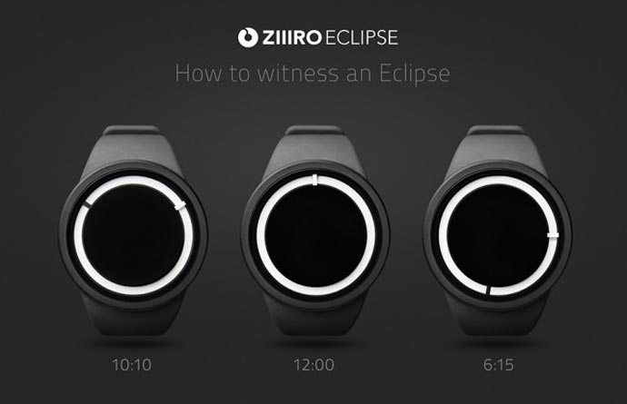 How to read the time on the Ziiiro Eclipse