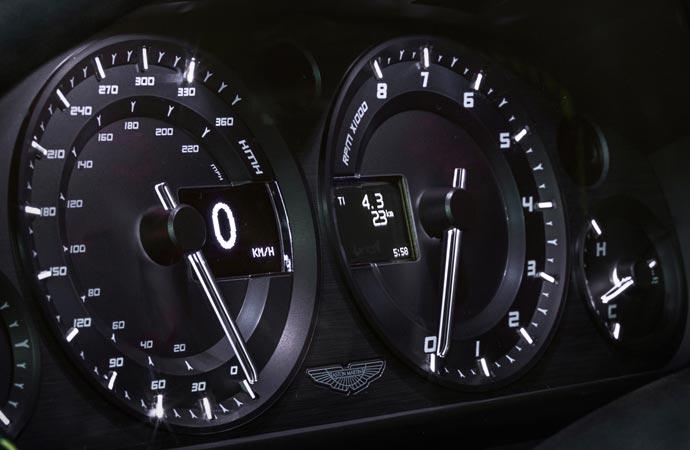 Aston Martin N430 instrument panel