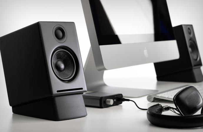 Stylish desktop speakers