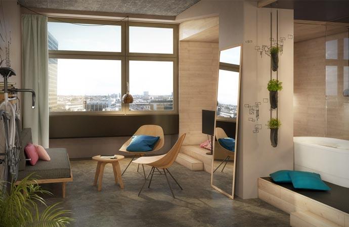 bikini berlin 25hours hotel. Black Bedroom Furniture Sets. Home Design Ideas