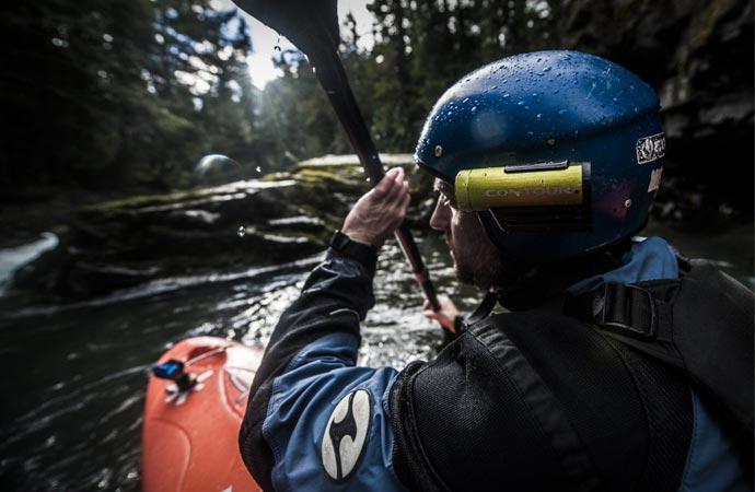 Action camera for kayaking