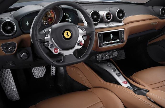 Interior of the Ferrari California T