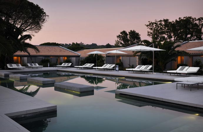 Pool at Hotel Sezz in Saint Tropez