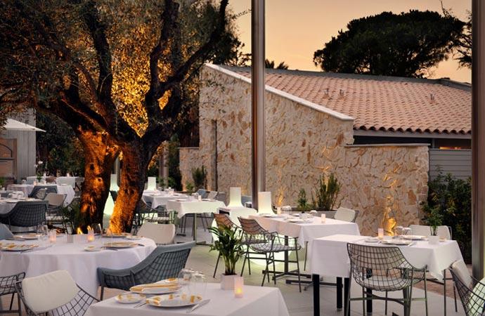 Restaurant at Hotel Sezz in Saint Tropez