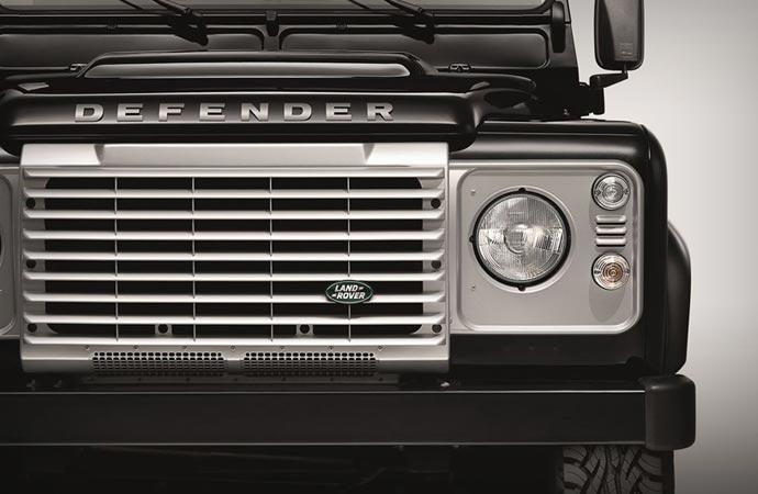 Land Rover Defender Black Pack front