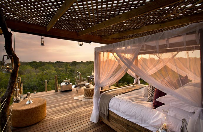 Room at Lion Sands in South Africa