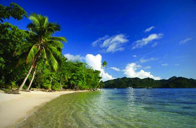 Ocean at Matangi resort in Fiji