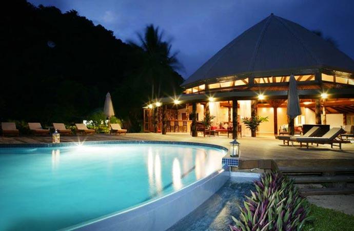Swimming pool at Matangi resort