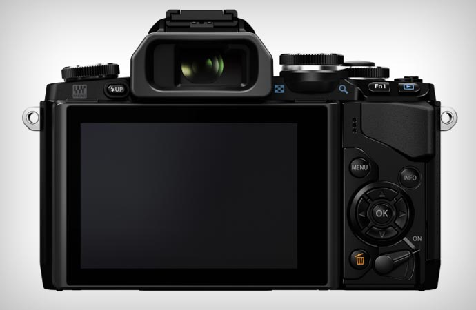 Olympus OM-D e-M10 camera screen