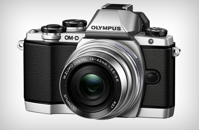 Olympus OM-D e-M10 camera with lens
