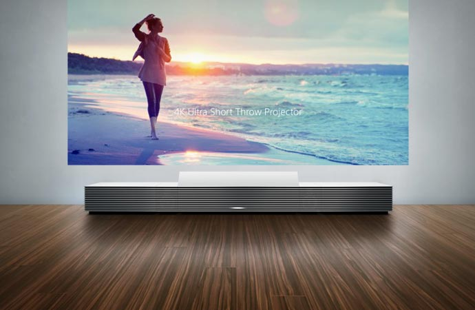 Sony ultra short throw 4k projector