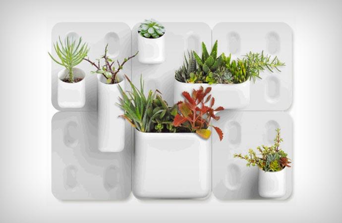 Vertical magnetic garden by Urbio