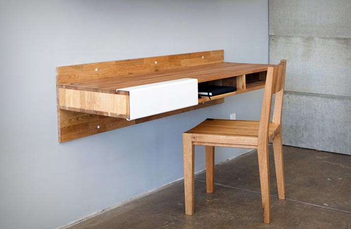 Wall Mounted Desk By Mashstudios. Wall Mounted Desk