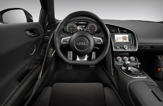 Interior of the Audi R8 e-tron