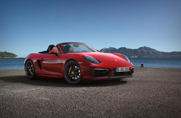 Porsche Boxster GTS front side