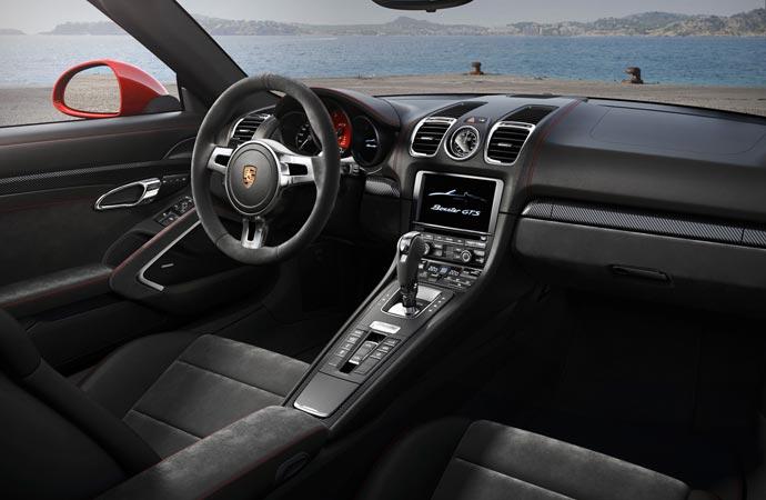 Interior of the Porsche Boxster GTS