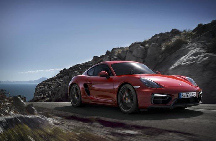 Porsche Cayman GTS front side