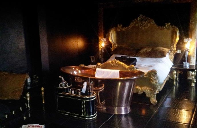 Bath tub at the Crazy Bear hotel