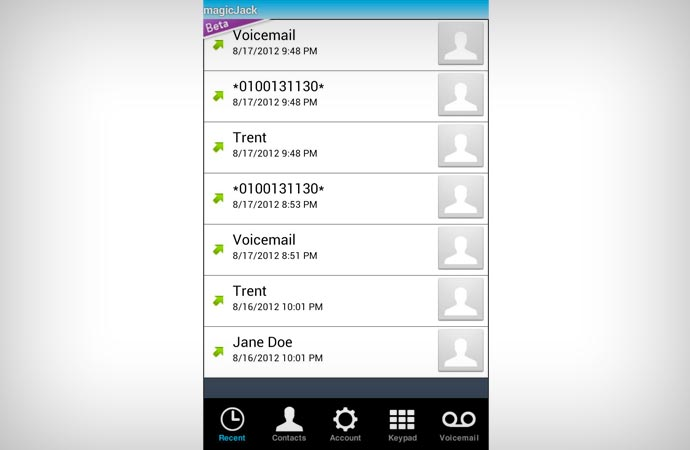 MagicJack mobile app for free calling to Canada and US