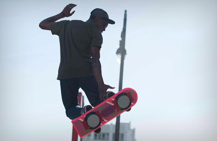 Huvr hoverboard for the 30th Back to the Future anniversary