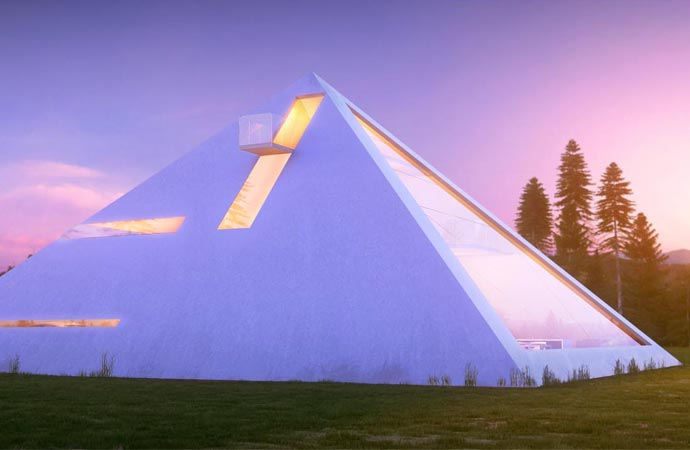 Pyramid house design