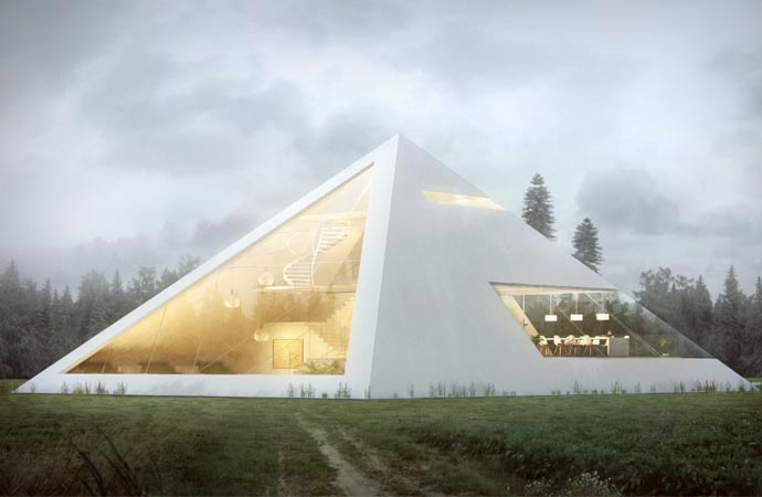 Pyramid house architecture
