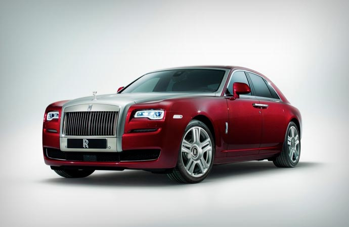 Front view of the Rolls Royce Ghost Series II