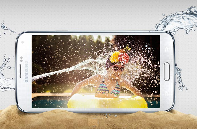 Samsung Galaxy S5 water resistant