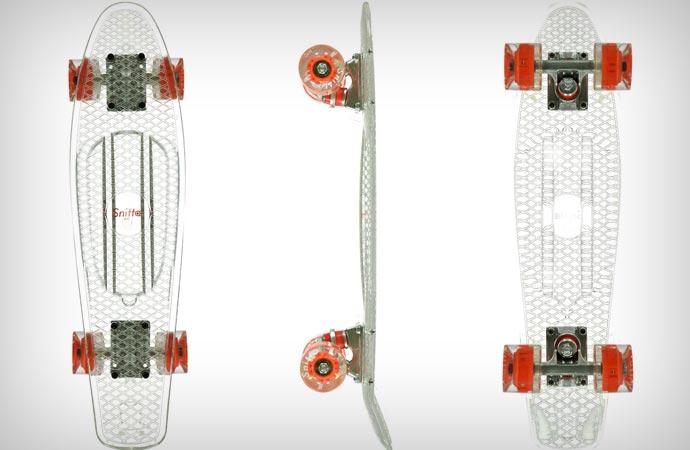 Snitto clear skateboard