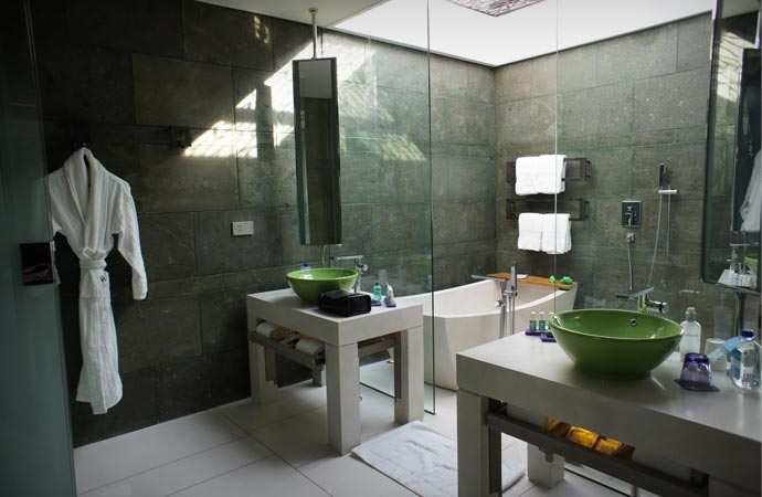 Bathroom at the W hotel in Bali