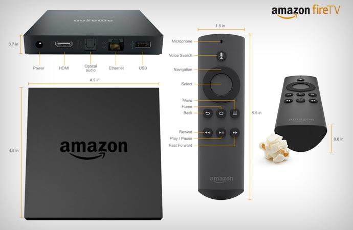 Amazon Fire TV dimensions