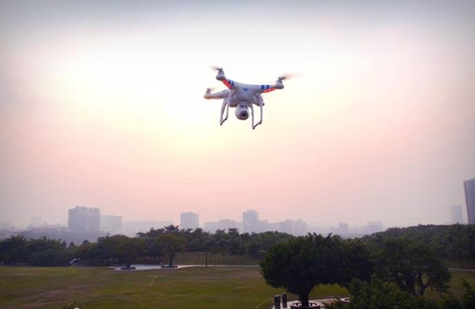 Remote control of the DJI Phantom 2 Vision quadcopter
