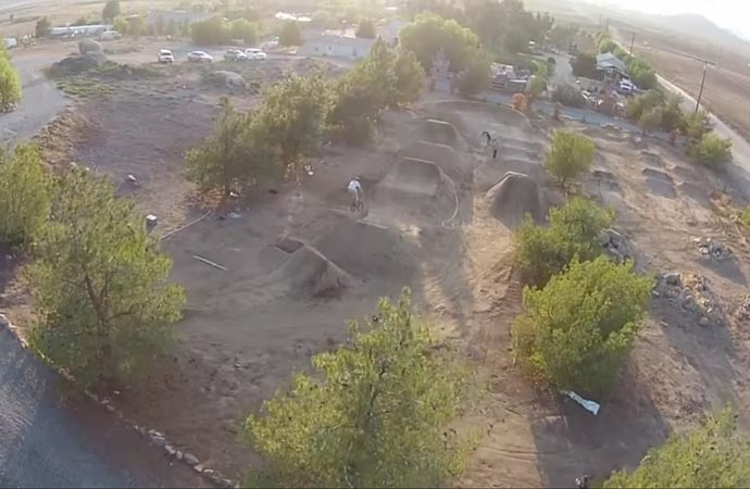 View from the DJI Phantom 2 Vision quadcopter