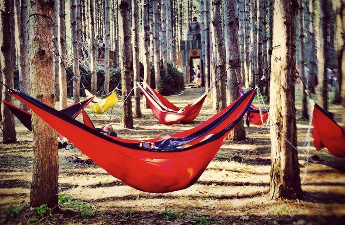 Doublenest hammock be ENO
