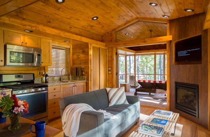 Living at the portable Escape Cabin