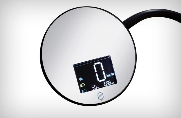 Johammer J1 side mirror with speed info