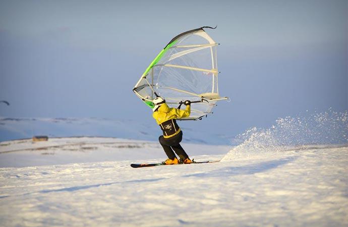 Kitewing on snow