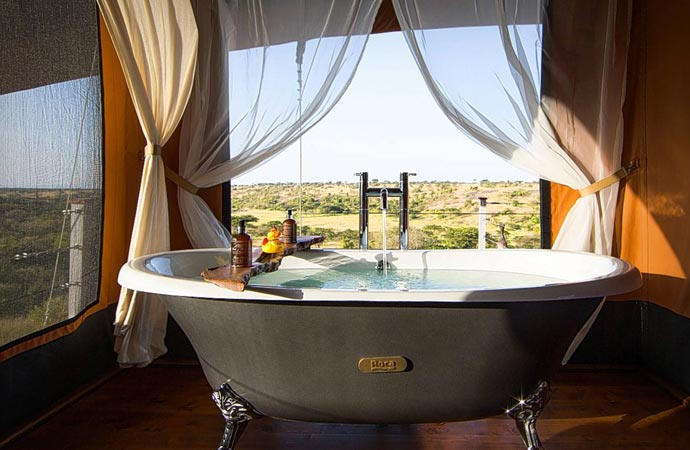 Room at Mahali Mzuri safari camp