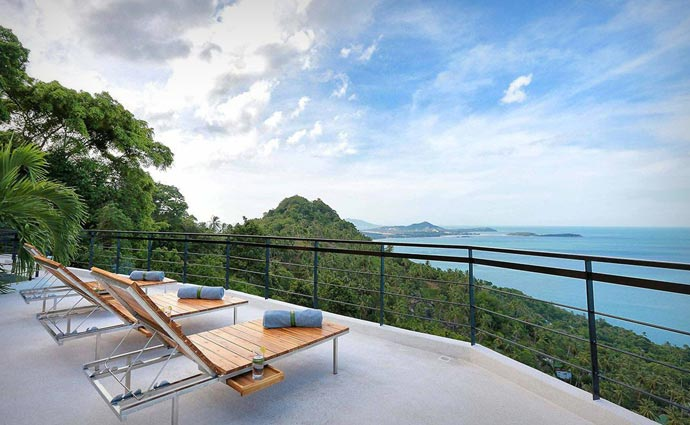 View of the scenery from Moon Shadow Villa in Thailand