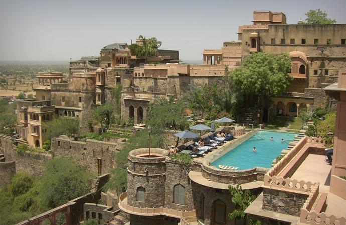 Swimming pool at Neemrana Fort Palace