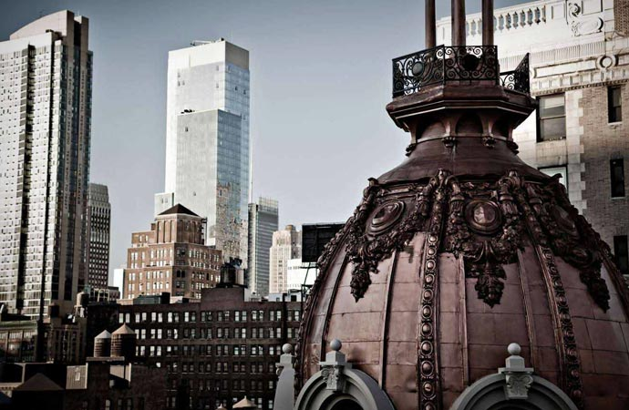 View from Nomad Hotel in New York