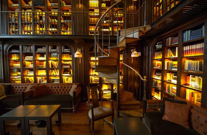 Library at Nomad Hotel in New York