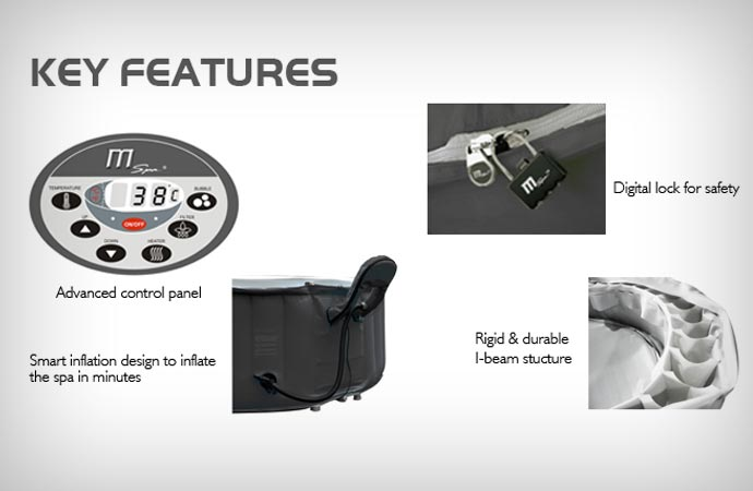 Features of the Silver Cloud portable inflatable spa