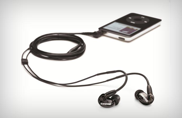 Shure SE215 noise isolating earphones