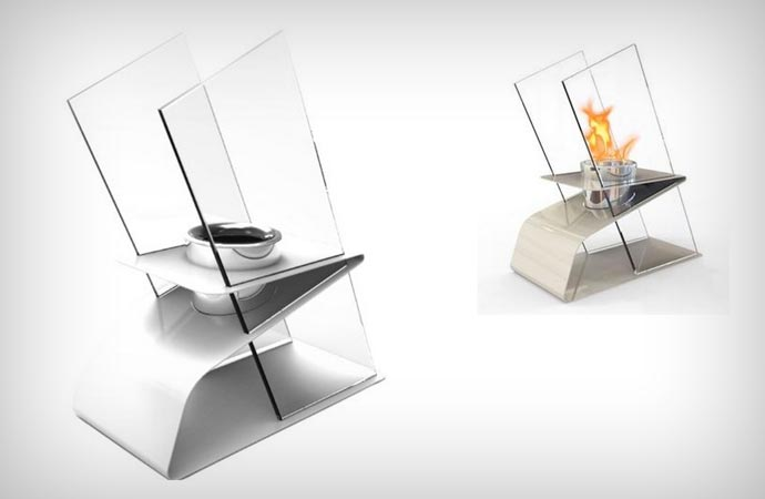 Table top fire burner for indoor and outdoor