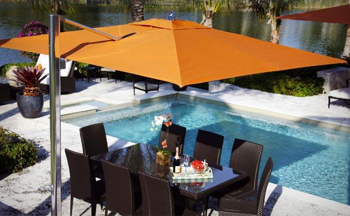 Tuuci single cantilever umbrella