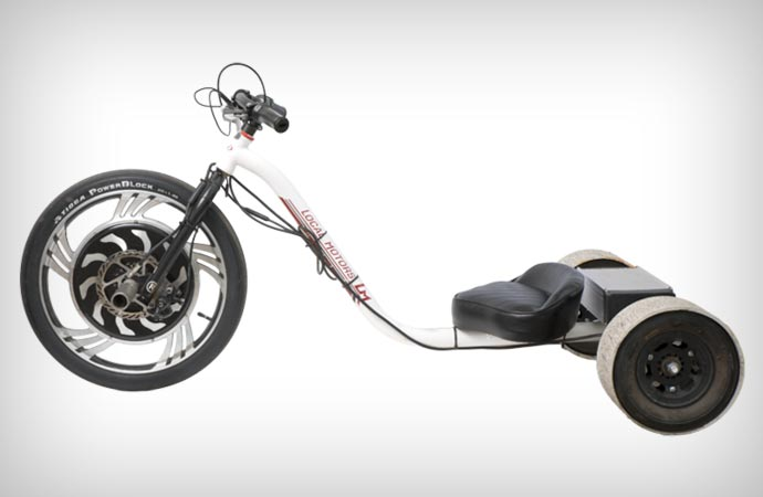 Electric drift trike from Local Motors