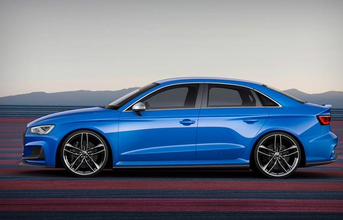 Side view of the Audi A3 Clubsport Quattro